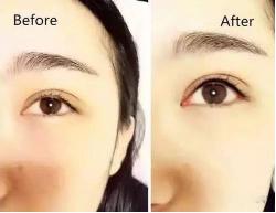 纹眼线效果对比图